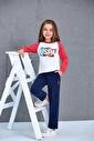 U.S. Polo Assn. Us Polo Assn Lisanslı Kız Çocuk 2'Li Takım Gri Krem